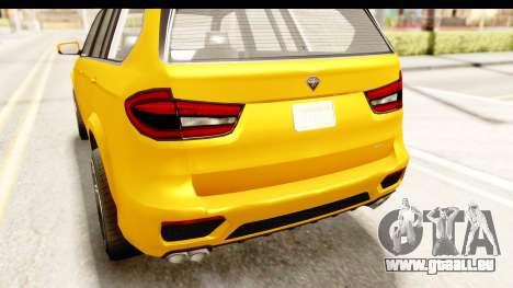 GTA 5 Benefactor XLS IVF für GTA San Andreas obere Ansicht