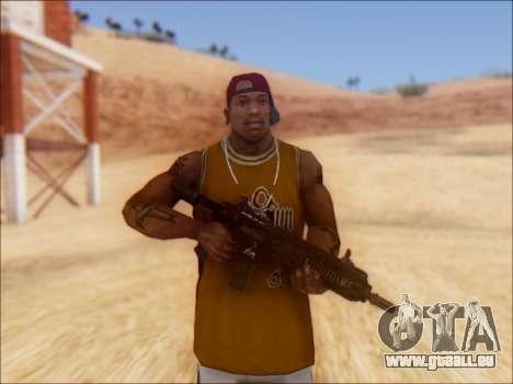 GTA 5 Vom Feuer Carbine Rifle für GTA San Andreas zweiten Screenshot