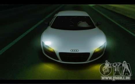 Audi R8 GT Sport 2012 pour GTA San Andreas vue arrière
