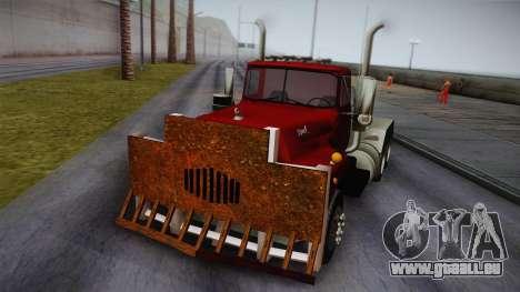 Mack R600 v2 pour GTA San Andreas sur la vue arrière gauche