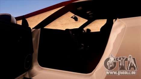 Nissan GT-R R35 pour GTA San Andreas salon