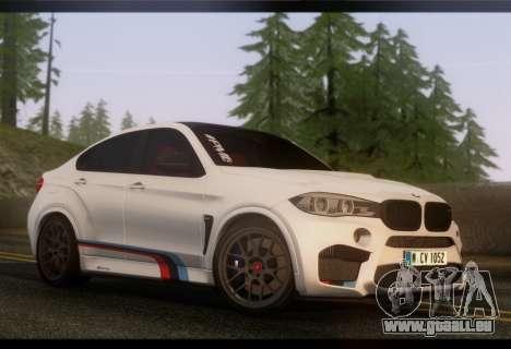 BMW X6M PML ED pour GTA San Andreas sur la vue arrière gauche