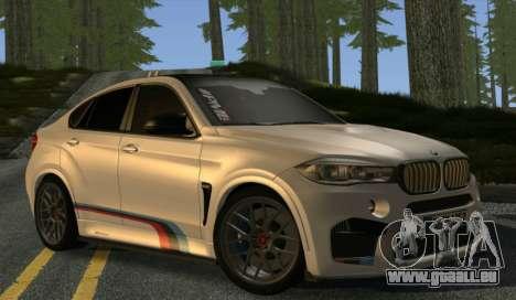 BMW X6M PML ED pour GTA San Andreas vue arrière