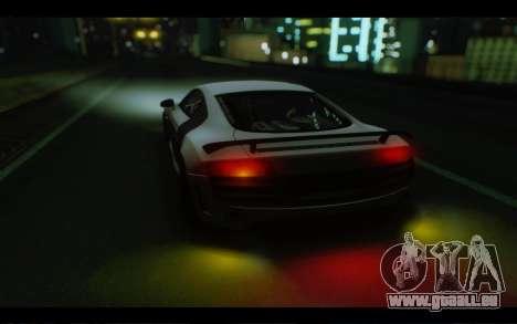 Audi R8 GT Sport 2012 pour GTA San Andreas vue intérieure