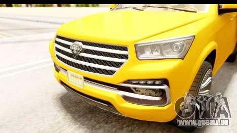 GTA 5 Benefactor XLS IVF für GTA San Andreas Seitenansicht