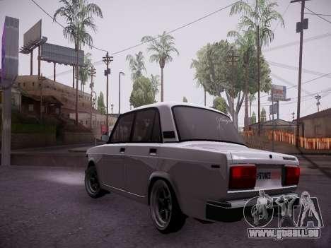 VAZ 2107 Tipo-stance pour GTA San Andreas sur la vue arrière gauche