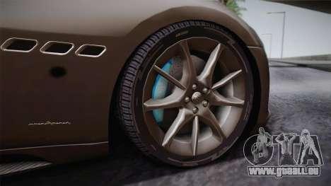 Maserati Gran Turismo Sport für GTA San Andreas Rückansicht