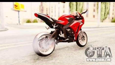 Honda CBR1000RR 2012 pour GTA San Andreas laissé vue