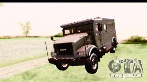 GTA 5 Stockade v2 IVF pour GTA San Andreas sur la vue arrière gauche