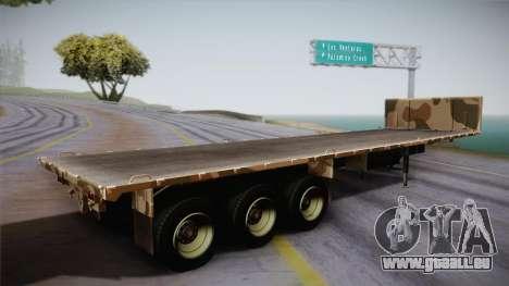 GTA 5 Army Flat Trailer IVF pour GTA San Andreas laissé vue