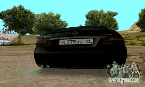 Mercedes-Benz E63 pour GTA San Andreas vue intérieure