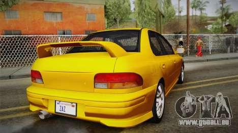 Subaru Impreza WRX STI GC8 1999 v1.0 für GTA San Andreas Seitenansicht