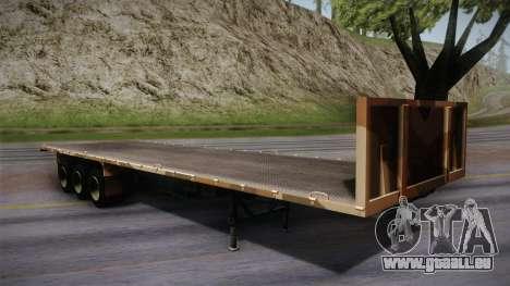 GTA 5 Army Flat Trailer IVF für GTA San Andreas