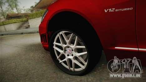Mercedes-Benz W221 S65 Stance v2 für GTA San Andreas Rückansicht