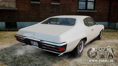 Pontiac LeMans Coupe 1971 pour GTA 4 Vue arrière de la gauche