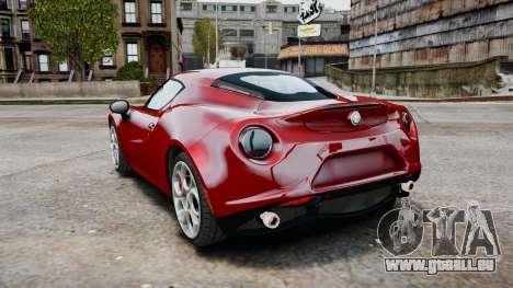 Alfa Romeo 4C 2016 für GTA 4 rechte Ansicht