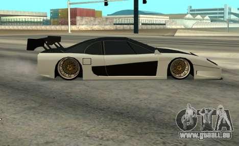 Turismo Major pour GTA San Andreas sur la vue arrière gauche