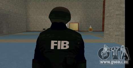 GTA 5 FIB SWAT Blue für GTA San Andreas zweiten Screenshot