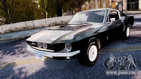 Ford Mustang Shelby GT500 1967 pour GTA 4 Vue arrière de la gauche