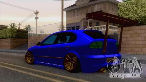 Seat Leon Haur Edition pour GTA San Andreas sur la vue arrière gauche