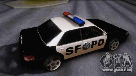 Sultan SFPD für GTA San Andreas zurück linke Ansicht