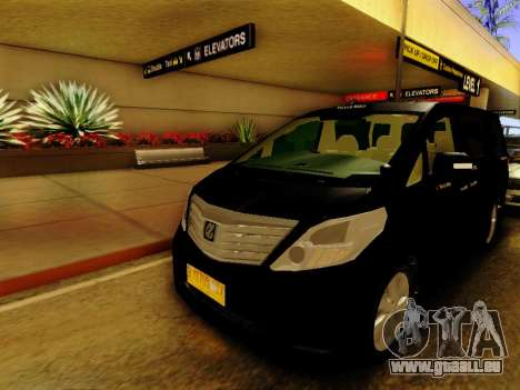 Toyota Alphard Taxi Silver Bird für GTA San Andreas