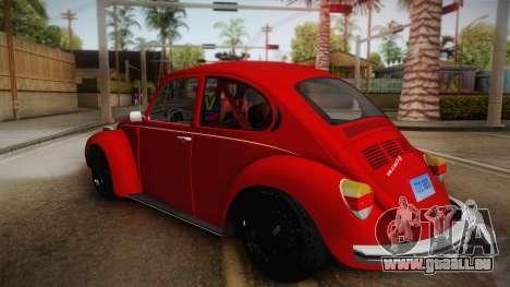 Volkswagen Beetle Escarabajo für GTA San Andreas linke Ansicht