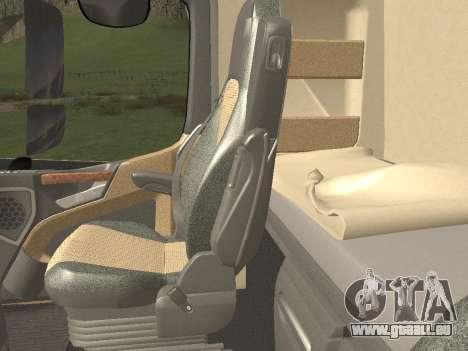 Mercedes-Benz Actros Mp4 4x2 v2.0 Steamspace v2 pour GTA San Andreas vue de dessous