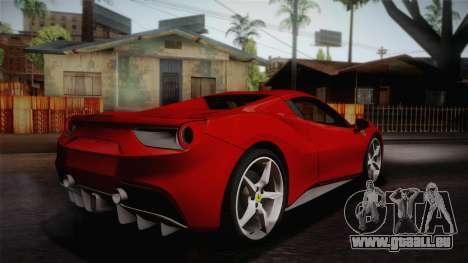 Ferrari 488 Spider pour GTA San Andreas laissé vue