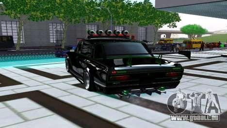 Moskvich 2140 Turbo Tuning pour GTA San Andreas sur la vue arrière gauche