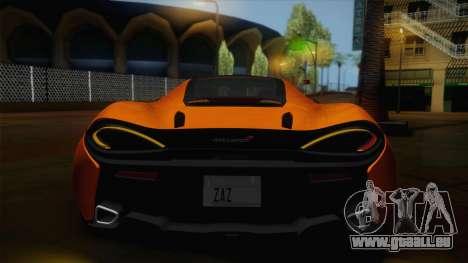 McLaren 570GT 2016 für GTA San Andreas Innenansicht