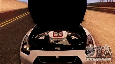 Nissan GT-R R35 pour GTA San Andreas vue de dessus