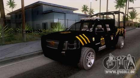Chevrolet Silverado de la Fuerza Coahuila pour GTA San Andreas
