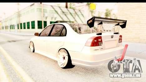 Honda Civic Vtec 2 Berkay Aksoy Tuning pour GTA San Andreas vue de droite