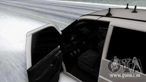 Mercedes-Benz Vito pour GTA San Andreas vue de dessous