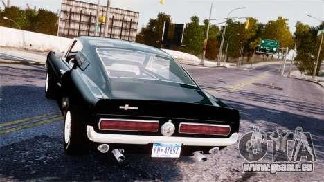 Ford Mustang Shelby GT500 1967 pour GTA 4 est un droit