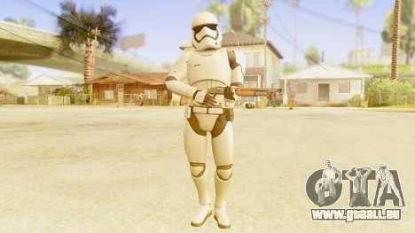 Star Wars Ep 7 First Order Trooper pour GTA San Andreas troisième écran