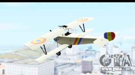Nieuport 11 Bebe - Nr.865 Romania pour GTA San Andreas laissé vue
