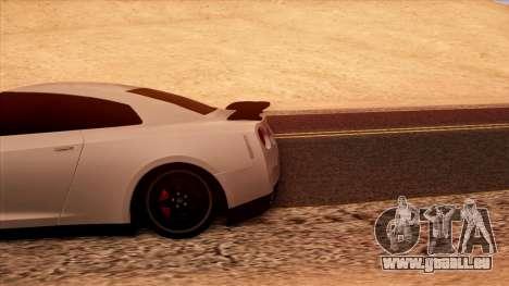 Nissan GT-R R35 pour GTA San Andreas vue intérieure