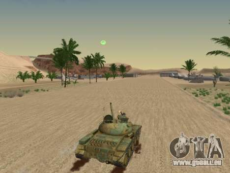 T-62 für GTA San Andreas Innen