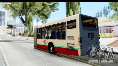 Metrobus de la Ciudad de Mexico Trailer für GTA San Andreas linke Ansicht