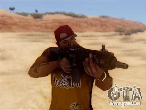 GTA 5 Vom Feuer Carbine Rifle für GTA San Andreas dritten Screenshot