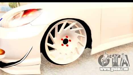 Honda Civic Vtec 2 Berkay Aksoy Tuning pour GTA San Andreas vue arrière