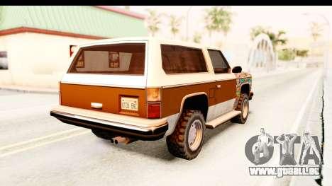 Rancher Sticker Bomb pour GTA San Andreas sur la vue arrière gauche
