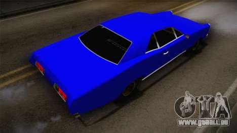 Bestia 1971 from Midnight Club 2 pour GTA San Andreas sur la vue arrière gauche
