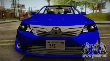 Toyota Camry 2013 für GTA San Andreas zurück linke Ansicht