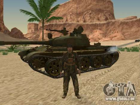 T-62 für GTA San Andreas Seitenansicht