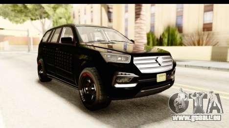 GTA 5 Benefactor XLS Armored für GTA San Andreas rechten Ansicht
