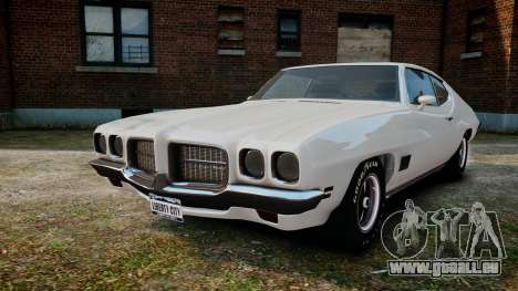 Pontiac LeMans Coupe 1971 pour GTA 4 Vue arrière