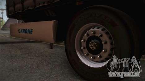 Mercedes-Benz Actros Mp4 v2.0 Tandem Trailer pour GTA San Andreas sur la vue arrière gauche
